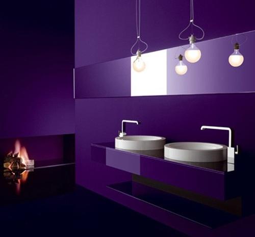 muebles bano cristal colores intensos 1 Muebles de Baño de Cristal y Colores Intensos