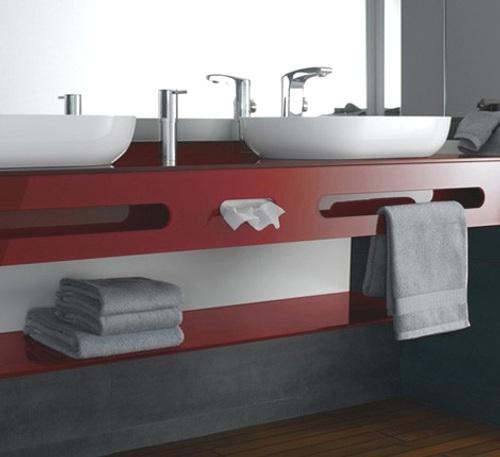 muebles bano cristal colores intensos 2 Muebles de Baño de Cristal y Colores Intensos