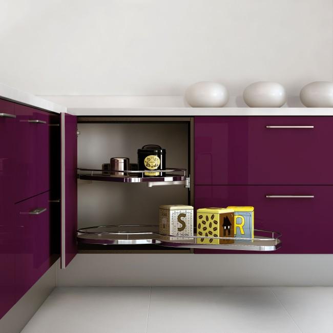 Muebles de cocina que apuestan al color - Colores de muebles ...