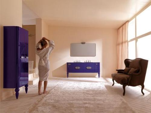 Muebles retro moderno para el cuarto de ba o for Muebles cuarto de bano