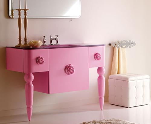 Muebles retro moderno para el cuarto de ba o - Muebles para cuarto de bano ...
