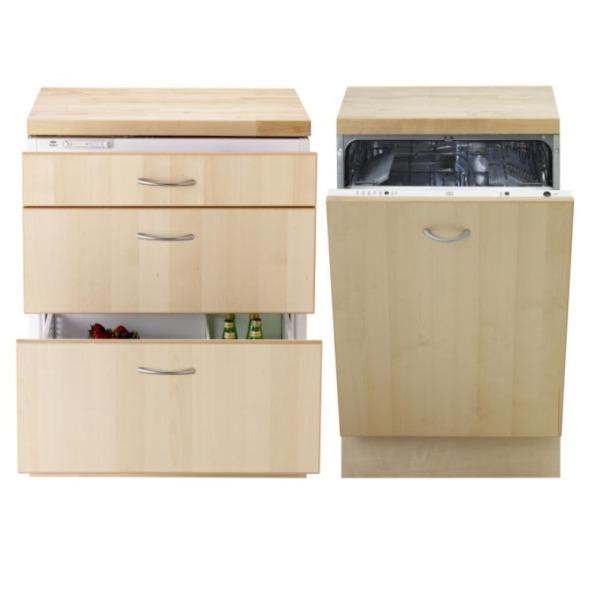 Nevera y lavavajillas para ahorrar espacio de ikea - Mueble para nevera ...