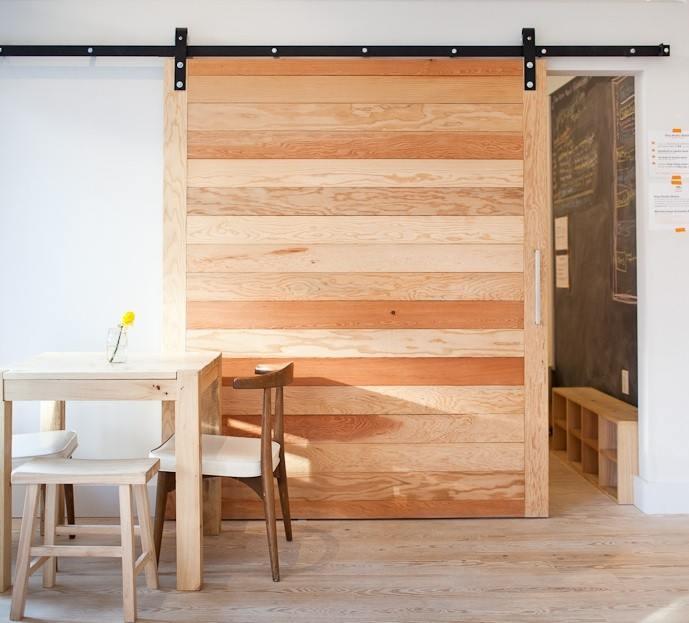 Puertas interiores de granero ideas y usos for Puertas corredizas revit