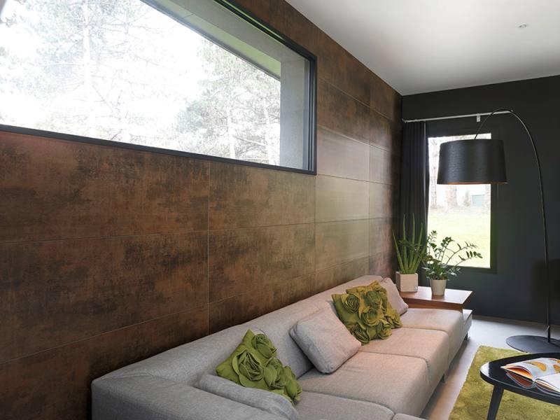 Tendencias en paredes xidos cobres y metalizados for Revestimiento paredes pvc banos