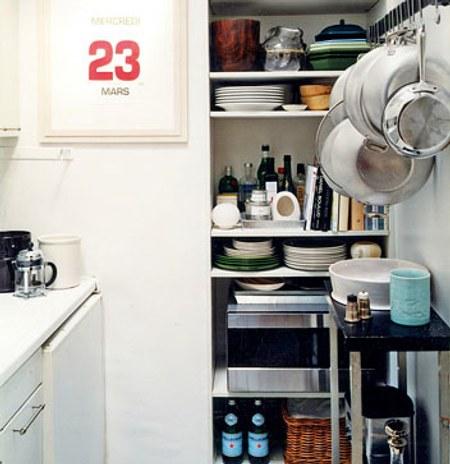 Orden y organizaci n en cocinas peque as for Decoracion de cocinas pequenas con repisas