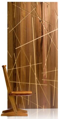 Revestimiento de madera trabajado en CNC
