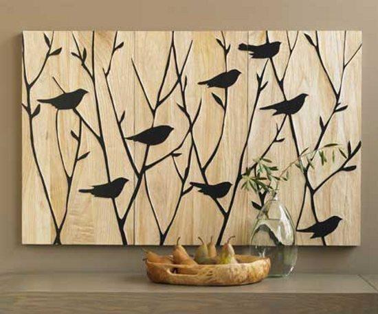 Paneles artesanales para la decoraci n de paredes - Decoracion de paredes en madera ...