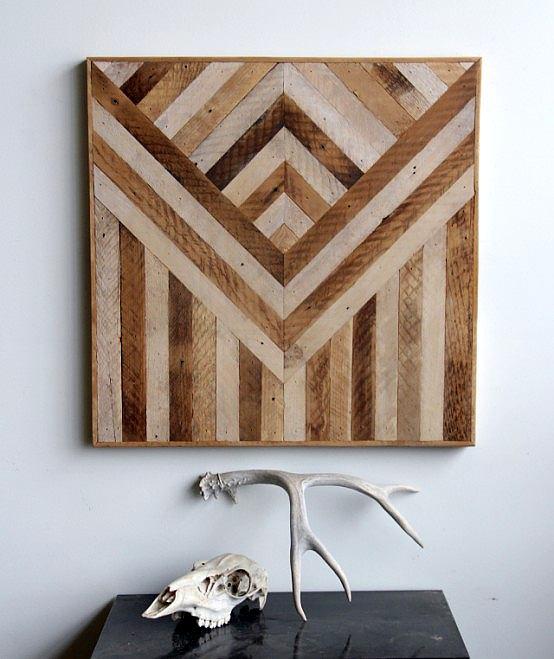 Paneles de madera geom tricos para decorar paredes - Paneles de madera decorativos ...