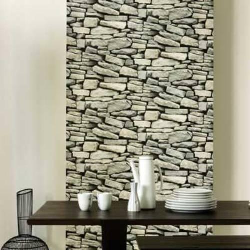 Papel tapiz imitaci n de piedras - Revestimientos de paredes imitacion piedra ...