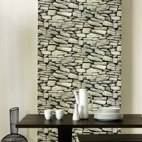 Papel tapiz imitaci n de piedras - Imitacion piedra pared ...