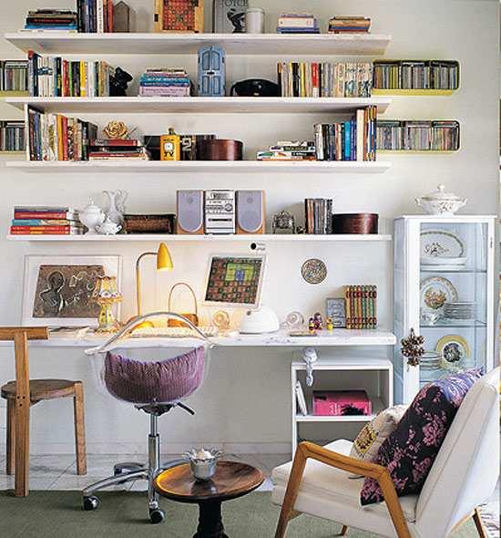 C mo decorar una zona de trabajo en casa for Ideas para despachos