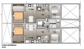 planta de apartamentos