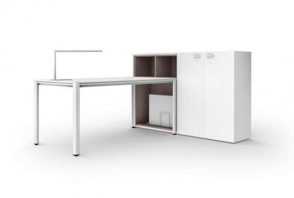 Sistema de mesas y mobiliario para oficinas y despachos for Mobiliario para despachos