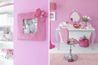 rosa barbie dormitorio ninas 1 320x211 Dormitorios Color Rosa para Niñas y Jóvenes