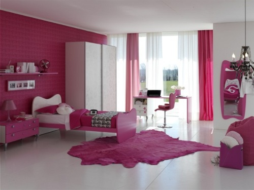 Dormitorios color rosa para ni as y j venes for Habitaciones para ninas 5 anos