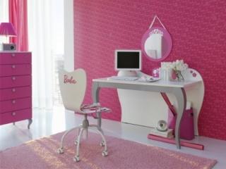 rosa barbie dormitorio ninas 6 320x240 Dormitorios Color Rosa para Niñas y Jóvenes