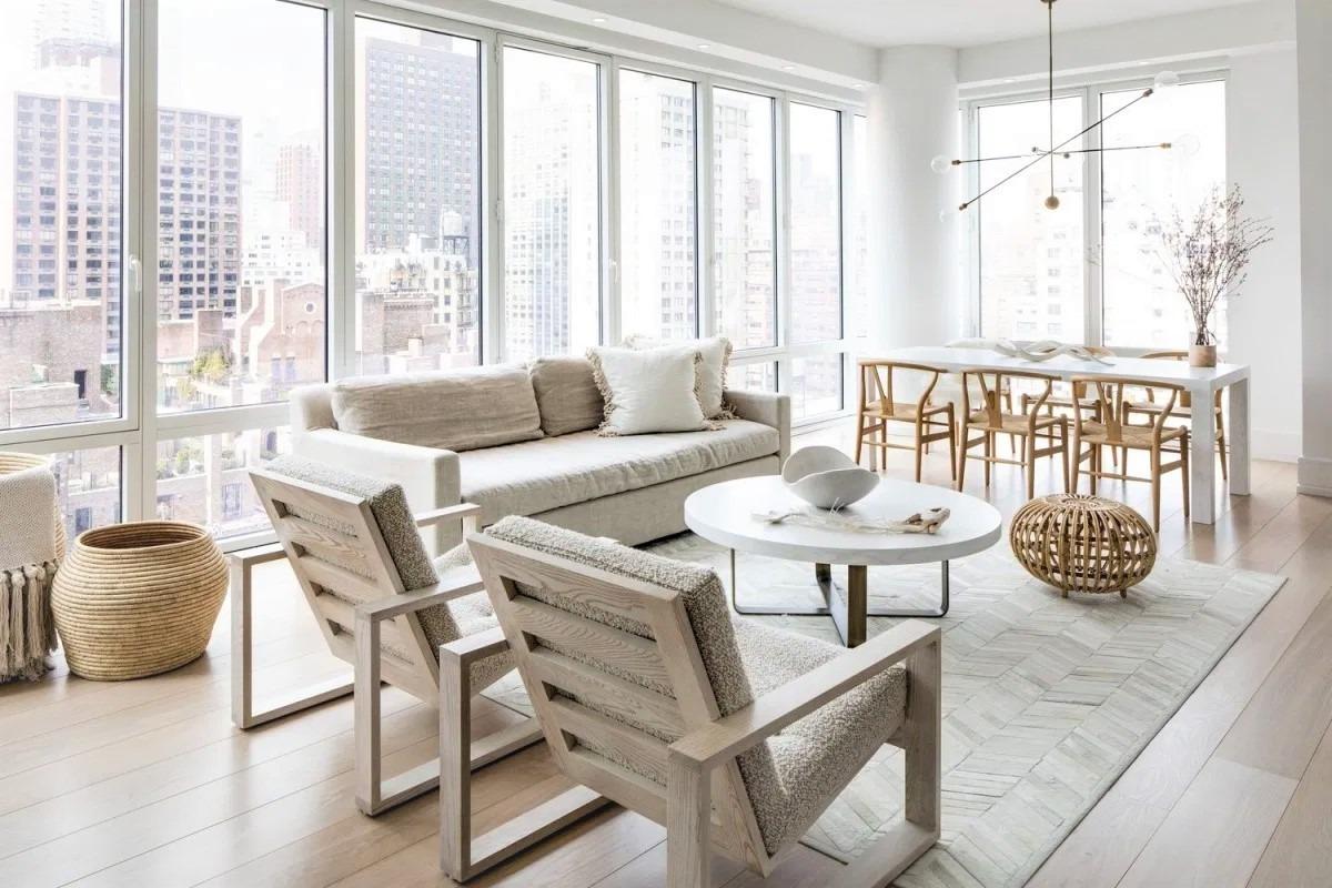 comedor y salón integrados