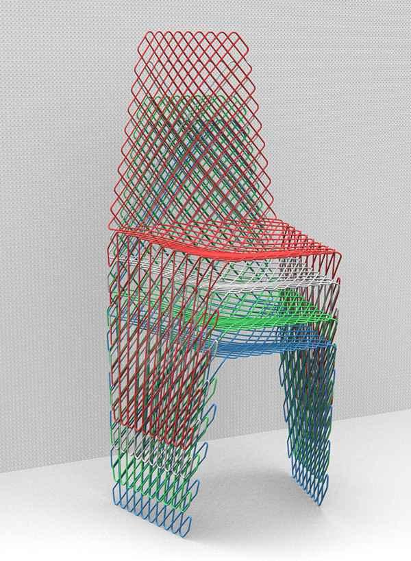 Cetka silla con una estructura original - Sillas apilables diseno ...