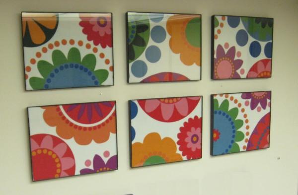 Simples y coloridos cuadros de tela - Como hacer cuadros faciles en casa ...