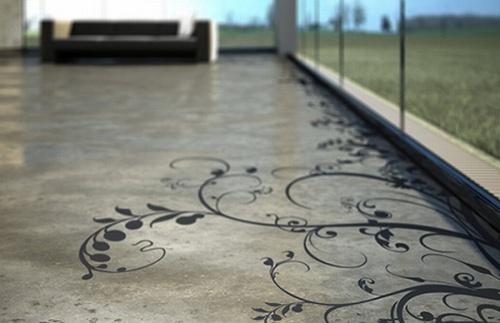 suelos concreto disenos decorativos 1 Suelos de Concreto con Diseños Decorativos