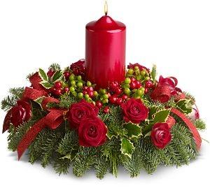Tips decoraci n navidad centros de mesa con flores - Decoracion de mesa en navidad ...