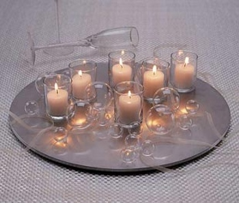 Centros de mesa mi lado creativo seco boda - Centros de navidad con velas ...