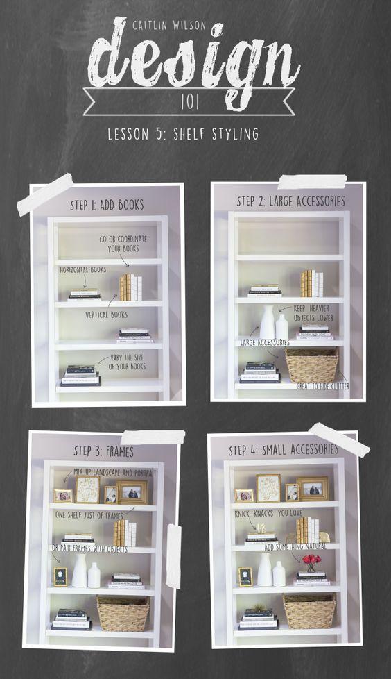 tips parar organizar estantes
