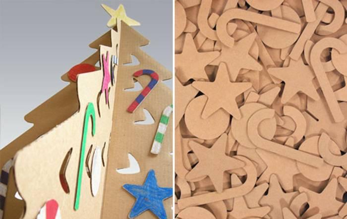 un arbol de navidad de carton para colorear Un Árbol de Navidad de Cartón