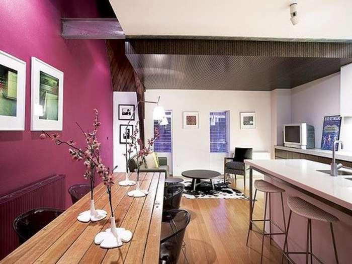 Gran cocina y sala unificadas estilo Loft