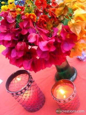 velas flores 300x400 Ideas para Renovar la Casa Ahorrando Más