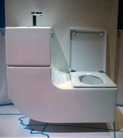 Como ahorrar espacio y agua en el cuarto de ba o taringa - Inodoro y lavabo en uno ...